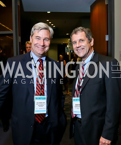 Sen. Sheldon Whitehouse, Sen. Sherrod Brown. Photo by Tony Powell. 2013 J Street Gala Dinner. Convention Center. September 30, 2013