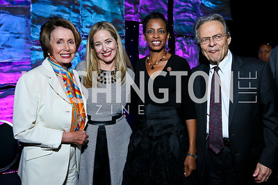 Leader Nancy Pelosi, Nancy Reynolds Bagley, Rep. Donna Edwards, Mort Halperin. Photo by Tony Powell. 2013 J Street Gala Dinner. Convention Center. September 30, 2013