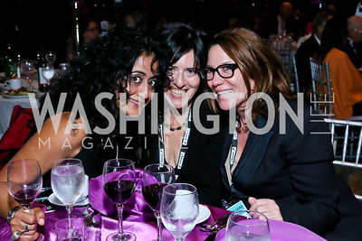 Roshanak Ameli-Tehrani, Nora Maccoby Hathaway, Kimball Stroud. Photo by Tony Powell. 2013 J Street Gala Dinner. Convention Center. September 30, 2013