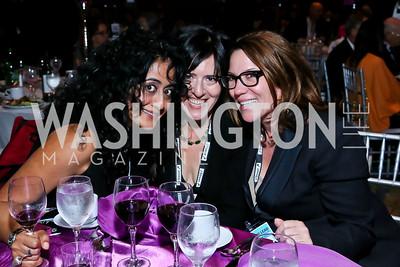 Roshanak Ameli-Tehrani, Nora Maccoby Hathaway, Kimball Stroud. Photo by Tony Powell. 2013 J Street Gala Dinner. Convention Center. September 30, 2013