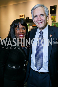 Rep. Terri Sewell, Rep. Lloyd Doggett. Photo by Tony Powell. 2013 J Street Gala Dinner. Convention Center. September 30, 2013