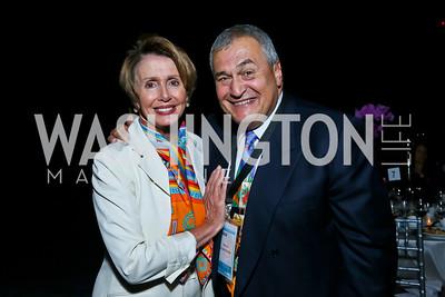 Leader Nancy Pelosi, Tony Podesta. Photo by Tony Powell. 2013 J Street Gala Dinner. Convention Center. September 30, 2013