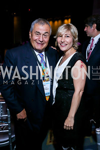 Tony Podesta, Debbie Fine. Photo by Tony Powell. 2013 J Street Gala Dinner. Convention Center. September 30, 2013