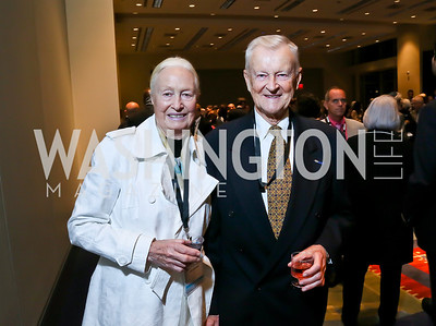Emilie and Zbigniew Brzezinski. Photo by Tony Powell. 2013 J Street Gala Dinner. Convention Center. September 30, 2013