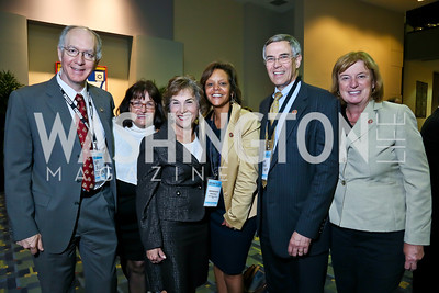 Rep. Bill Foster, Rep. Annie Kuster, Rep. Jan Schakowsky, Rep. Robin Kelly, Rep. Rush Holt, Rep. Carol Shea-Porter. Photo by Tony Powell. 2013 J Street Gala Dinner. Convention Center. September 30, 2013