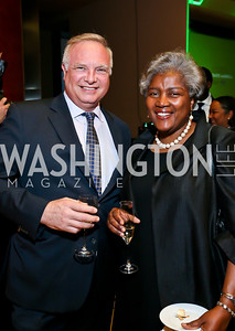 David Adler, Donna Brazile. Photo by Tony Powell. 2013 James Beard Foundation's Taste America. Italian Embassy. September 27, 2013