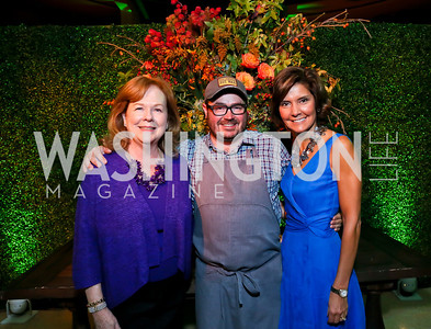 James Beard Foundation President Susan Ungaro, Chef Sean Brock, Capricia Marshall. Photo by Tony Powell. 2013 James Beard Foundation's Taste America. Italian Embassy. September 27, 2013