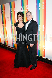Julie Chen, Les Moonves. Photo by Alfredo Flores. 2013 Kennedy Center Honors. Kennedy Center. December 8, 2013.