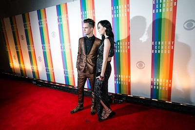 Brendon Urie, Sarah Orzechowski. Photo by Alfredo Flores. 2013 Kennedy Center Honors. Kennedy Center. December 8, 2013.