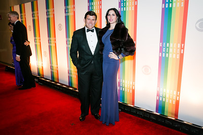 Bret Baier, Amy Baier. Photo by Alfredo Flores. 2013 Kennedy Center Honors. Kennedy Center. December 8, 2013.