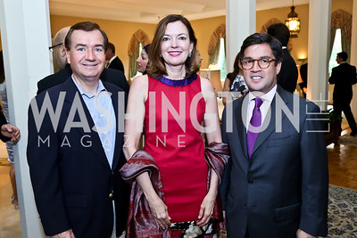 Rep. Ed Royce and Marie Royce, Luis Moreno. Photo by Tony Powell. 2013 Kuwait America Foundation Dinner. June10, 2013