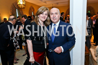 Nicole Saba and Lebanese Amb. Antoine Chedid. Photo by Tony Powell. 2013 Kuwait America Foundation Dinner. June10, 2013