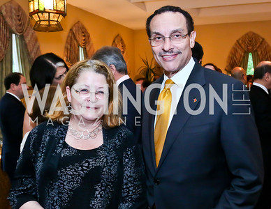 Kay Larcom, DC Mayor Vincent Gray. Photo by Tony Powell. 2013 Kuwait America Foundation Dinner. June10, 2013