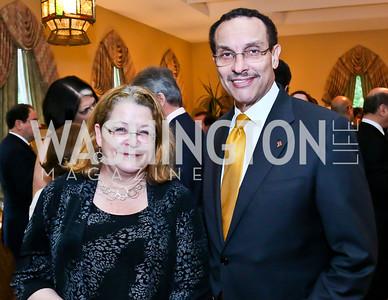 Kay Larcom, DC Mayor Vincent Gray. Photo by Tony Powell. 2013 Kuwait America Foundation Dinner. June10, 2013