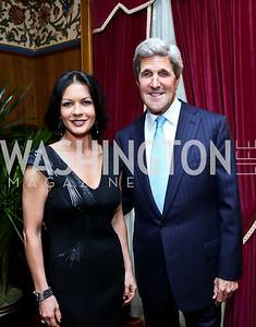 Catherine Zeta-Jones, Sec. John Kerry. Photo by Tony Powell. 2013 Kuwait America Foundation Dinner. June10, 2013