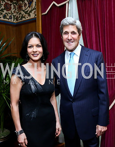 Catherine Zeta-Jones, Sec. John Kerry. Photo by Tony Powell. 2013 Kuwait America Foundation Dinner. June10, 2013