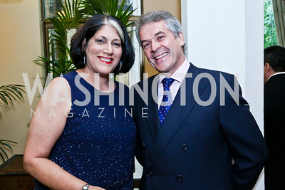 Tammy Haddad, British Amb. Peter Westmacott. Photo by Tony Powell. 2013 Kuwait America Foundation Dinner. June10, 2013