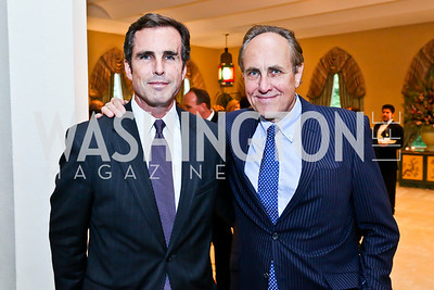 ABC News' Bob Woodruff, CBS News Vice President and Washington Bureau Chief Chris Isham. Photo by Tony Powell. 2013 Kuwait America Foundation Dinner. June10, 2013