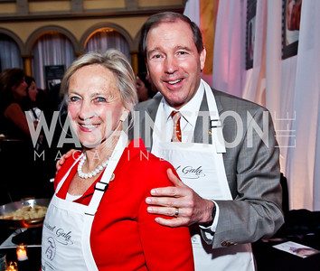 Jill Udall and New Mexico Sen. Tom Udall. Photo by Tony Powell. 2013 March of Dimes Gourmet Gala. Building Museum. April 16, 2013