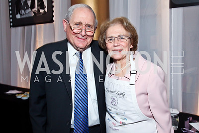 Michigan Sen. Carl Levin and Barbara Levin. Photo by Tony Powell. 2013 March of Dimes Gourmet Gala. Building Museum. April 16, 2013