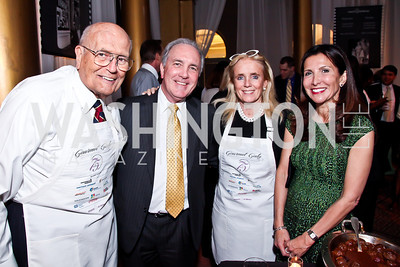 Michigan Rep. John Dingell, Steve Hart, Debbie Dingell, Vicki Hart. Photo by Tony Powell. 2013 March of Dimes Gourmet Gala. Building Museum. April 16, 2013