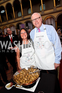 Kasey Crowley and New York Rep. Joseph Crowley. Photo by Tony Powell. 2013 March of Dimes Gourmet Gala. Building Museum. April 16, 2013