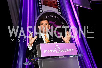 Master of Ceremonies Bret Baier. Photo by Tony Powell. 2013 March of Dimes Gourmet Gala. Building Museum. April 16, 2013