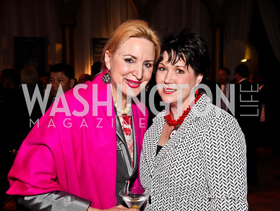 Christine Warnke, Gina House. Photo by Tony Powell. 2013 March of Dimes Gourmet Gala. Building Museum. April 16, 2013
