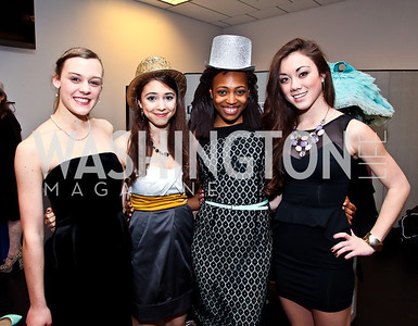Emily Glamb, Ellie Dotson, Jazz Bynum, Tessa Jenkins. Photo by Tony Powell. MYB Shining in the Spotlight Gala 2013. March 2, 2013