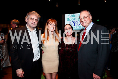 John McCauley, Lucy Bowen McCauley, Susan and George Schwelling. Photo by Tony Powell. MYB Shining in the Spotlight Gala 2013. March 2, 2013