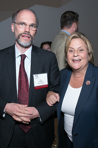 Eric Federing, Rep. Ileana Ros-Lehtinen. Photo by Alfredo Flores. 2013 National Conference on Citizenship. United States Institute of Peace. September 19, 2013.