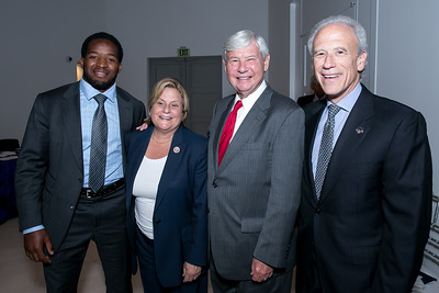 Alfred Morris, Rep. Ileana Ros-Lehtinen, Sen. Lindsey Graham, Michael Weiser. Photo by Alfredo Flores. 2013 National Conference on Citizenship. United States Institute of Peace. September 19, 2013.