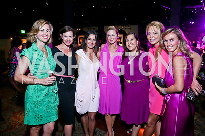 Nina Sughrue, Stephanie Abraham, Kelly Collis, Angie Diba, Donna Donella, Andrea Rinaldi, Jennifer Harlow. Photo by Tony Powell. The Newsbabes Bash for Breast Cancer. The Hamilton. June 27, 2013