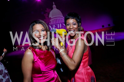 WUSA9 Anchors Lesli Foster and Andrea Roane. Photo by Tony Powell. The Newsbabes Bash for Breast Cancer. The Hamilton. June 27, 2013