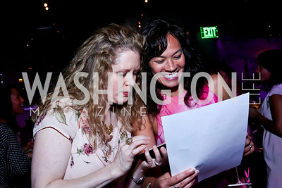 Isabelle Lass, Kristine Huskey. Photo by Tony Powell. The Newsbabes Bash for Breast Cancer. The Hamilton. June 27, 2013
