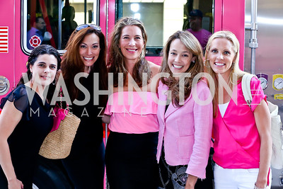 Jillian Vorce, Dawn Gontkovic, Emily Gordon, Mary Noone, Jennifer Duffie. Photo by Tony Powell. The Newsbabes Bash for Breast Cancer. The Hamilton. June 27, 2013