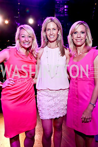 ABC7 Meteorologist Lauryn Ricketts, FOX 5 News' Laura Evans,  ABC7 Meteorologist Jacqui Jeras. Photo by Tony Powell. The Newsbabes Bash for Breast Cancer. The Hamilton. June 27, 2013