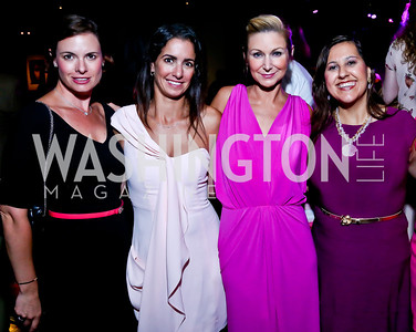 Stephanie Abraham, Kelly Collis, Angie Diba, Donna Donella. Photo by Tony Powell. The Newsbabes Bash for Breast Cancer. The Hamilton. June 27, 2013
