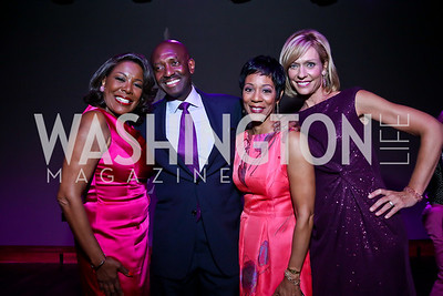 WUSA9's JC Hayward, Derek McGinty, Andrea Roane, Anita Brikman. Photo by Tony Powell. The Newsbabes Bash for Breast Cancer. The Hamilton. June 27, 2013