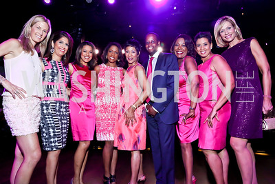 Newsbabes with Howard University Dr. Wayne Frederick. Photo by Tony Powell. The Newsbabes Bash for Breast Cancer. The Hamilton. June 27, 2013