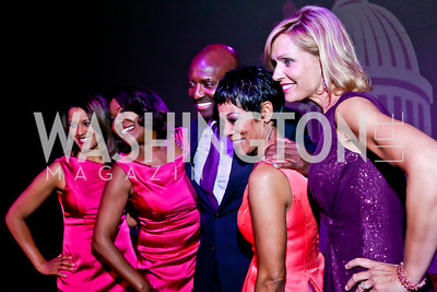 WUSA9's Lesli Foster, JC Hayward, Derek McGinty, Andrea Roane, Anita Brikman. Photo by Tony Powell. The Newsbabes Bash for Breast Cancer. The Hamilton. June 27, 2013