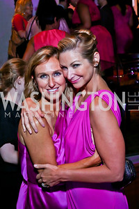 Jennifer Harlow, Angie Diba. Photo by Tony Powell. The Newsbabes Bash for Breast Cancer. The Hamilton. June 27, 2013