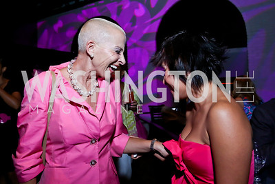 Christine Nasbe, Julie Nguyen. Photo by Tony Powell. The Newsbabes Bash for Breast Cancer. The Hamilton. June 27, 2013