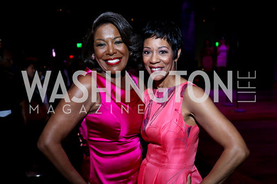 WUSA9's JC Hayward and Andrea Roane. Photo by Tony Powell. The Newsbabes Bash for Breast Cancer. The Hamilton. June 27, 2013