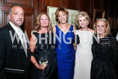 George Pelicanos, Emily Pelecanos, Lisa Page, Mary Haft, Debbie Dingell. Photo by Alfredo Flores. 2013 PEN Faulkner Gala Renewal. Folger Shakespeare Library. October 7, 2013