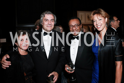Paula Kowalczuk, Peter Kovar, Clarence Page, Lisa Page. Photo by Alfredo Flores. 2013 PEN Faulkner Gala Renewal. Folger Shakespeare Library. October 7, 2013