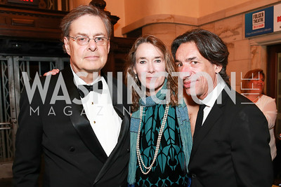 Andrew Cockburn, Lisa Cockburn, Septime Webre. Photo by Alfredo Flores. 2013 PEN Faulkner Gala Renewal. Folger Shakespeare Library. October 7, 2013