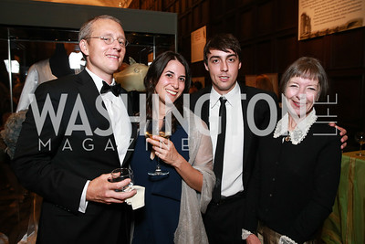Roy Scranton, Sara Marcus, Matt Gallagher, Deborah Gallagher. Photo by Alfredo Flores. 2013 PEN Faulkner Gala Renewal. Folger Shakespeare Library. October 7, 2013