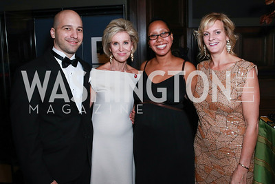 Christopher Castellani, Mary Haft, Tiphanie Yanique, Katharine Weymouth. Photo by Alfredo Flores. 2013 PEN Faulkner Gala Renewal. Folger Shakespeare Library. October 7, 2013