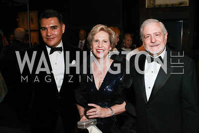 Xavier Equihua, Lisa Barry, James Gale. Photo by Alfredo Flores. 2013 PEN Faulkner Gala Renewal. Folger Shakespeare Library. October 7, 2013